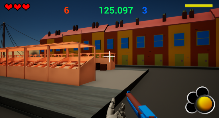 Screenshot showing the start of our UI design and new building asset